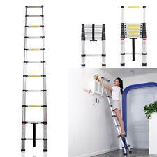 3.2M Multi Purpose Aluminium Telescopic Ladder Extension Extendable Step Silver