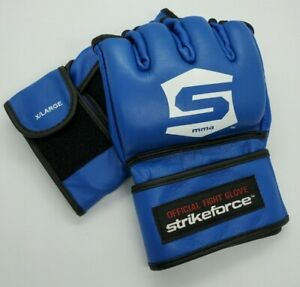 1 Pair Of New Strikeforce Official Fight Gloves Blue Size XL MMA Century UFC