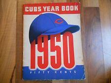 Old Vintage 1950 Chicago Cubs Year Book Publication MLB Baseball Frank Frisch