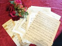 40 individual ast music sheet pages vintage 4 journals junk books cards craft