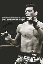 Lyoto Machida quote poster print - pre signed - 12 x 8 inch - Find the light
