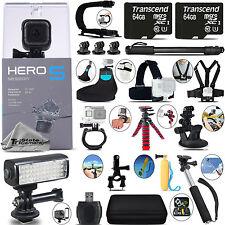 GoPro Hero 5 Session 4K Ultra HD, 10MP, Wi-Fi Camera + 128GB - Loaded Saving Kit