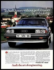 1982 Audi 5000 Performance Luxury Car Vintage PRINT AD Art of Engineering 1980s