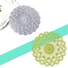 Round Flower Lace Metal Cutting Dies Stencil Scrapbooking Embossing Craft DIY