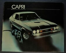 1977 Mercury Capri Brochure Ghia Le Cat Black Rally Cat Excellent Original 77