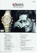 PUBLICITE ADVERTISING 1016  1996  Fascicule  montres Rodania (8p) titanium sport