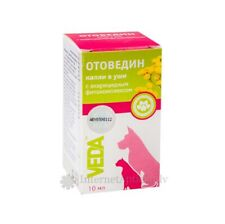 VEDA OTOVEDIN (ОТОВЕДИН) EAR DROPS AGAINST MITS FOR DOGS AND CATS, 10 ML