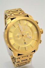 NEW DIESEL Stronghold Chronograph Stainless Steel Watch Gold Tone Oversize Face