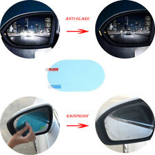 2Pcs Oval Auto Car Anti Fog Rainproof Rearview Mirror Protective Film Universal