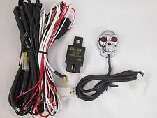 SKULL WIRING HARNESS SWITCH  FUSE HELLA PIAA BOSCH KC FOG DRIVING LIGHTS TWO LED