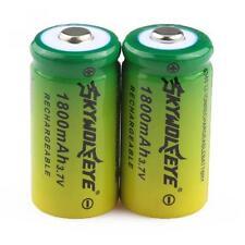2pcs 1800mAh Rechargeable Battery 16340 CR123A LR123A 3.7V Li-ion Batteries