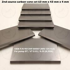 7 pcs carbon vane set Becker Pump DT/VT 3.25/4.25 KSK 901349 00007 63 43 4 mm