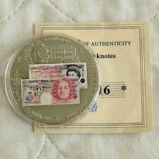 £ 50 Serie E Billete De 2007 40mm a prueba de medalla-cert. de autenticidad