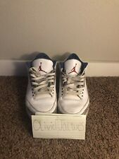 Air Jordan Retro III 3 True Blue 2011 Size 11 100% Authentic
