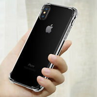 Shockproof 360° Silicone Protective Clear Case Cover For iPhone X 8 7 6s XS MAX