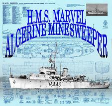 Build model boat 4 R/C 1:96 Scale full size Printed Plan H.M.S. Marvel Mindsweer