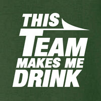 New York Jets funny football t-shirt THIS TEAM MAKES ME DRINK