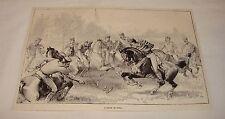 1887 magazine engraving ~ A Game Of Polo