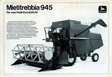 """PUBBLICITA' WERBUNG """" MIETITREBBIA JOHN DEERE 945 """""""
