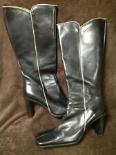 Franco Barbieri Made In Italy Black Upper Leather Man Made Sole Size 8.5M