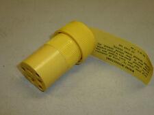 Nos! Eagle 20A-125V Kwiklok Nylon Grounding Connectors, Yellow, #3428