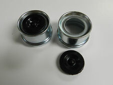 """(2) - Trailer Axle Dust Cap Cup Grease Cover & plug RV Camper Utility 1.98"""""""