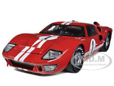 1966 FORD GT-40 MK 2 #1 RED 1/18 DIECAST MODEL CAR BY SHELBY COLLECTIBLES SC407