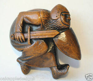 Knight Sword  Shield Armour Medieval English Reproduction Carving Castle Gift