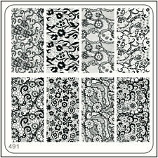 MoYou Nail Fashion Stamping Nail Art Image Plate 491 Vintage Style, Lace, Flower