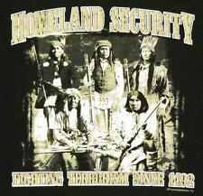 HOMELAND SECURITY INDIAN TRIBE BLACK TEE SHIRT SIZE XL adult T02 protection new