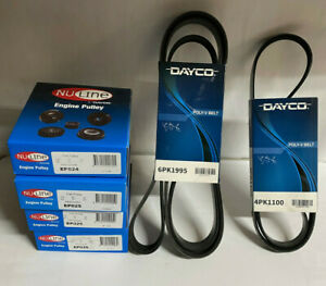 DAYCO Drive Belts & Pulleys for HOLDEN COMMODORE VT VX VY VZ V8 LS1 5.7L 6.0L