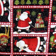 Santa Claus & Christmas Portraits, Appliques, Crafts & Quilting, Cotton, BTY
