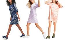 Adidas Originales Para Mujer satinado Camiseta Vestido Pañuelo Bufanda corto suelto de gran tamaño