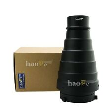 Photography Studio Flash Conical Snoot Light Control + Honeycomb for Bowens