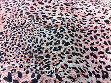 NEW*top quality soft and flowy chiffon black & dusty pink animal print 58''wide