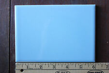"Mid-century blue ceramic wall tile NOS 4 1/4"" X 6"" retro vintage bath or kitchen"