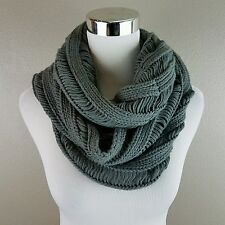 MYSTREE Light Gray Infinite Chunky Scarf ONE SIZE