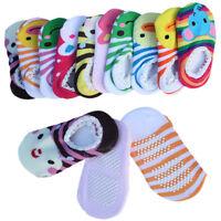 BABY GIRLS BOYS NON-SLIP SOCKS COTTON SHORT SHOES SLIPPERS NEWBORN TODDLER