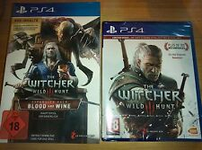 The Witcher 3 Wild Hunt + Blood and Wine Limited Edition Gwint PS4 NEU NEW FSK18