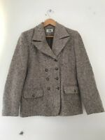 Womens Pilot Jacket 10 Brown tweed lined fitted <JJ6950z