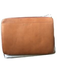 Brydge Genuine Leather Sleeve Case  MacBook Laptop 15 inch Brown Pro Organizer