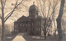 D37/ Lemars Iowa Ia Real Photo RPPC Postcard 1905 Court House Building