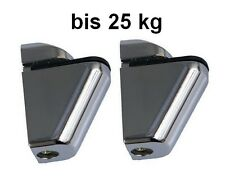 2x DESIGN Regalhalter Regalträger bis 25kg Regal Aluminium Alu Chrom  50486
