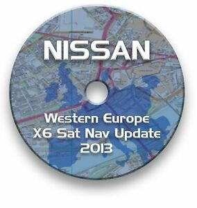 UK - NISSAN SAT NAV UPDATE DISC 2013 - PRIMERA ALMERA X-TRAIL PATROL MURANO