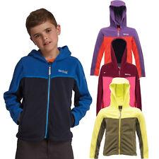 Regatta Marty Boys Girls Kids Lightweight Hooded Fleece Jacket