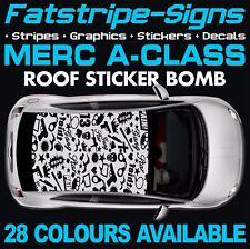 MERCEDES CLASSE A TETTO STICKER BOMB grafica Adesivi Decalcomanie Auto Vinile AMG A45 D