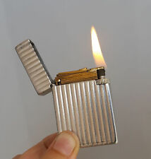 LIMITED PETROL LIGHTER ST DUPONT SERIE A0324 Solid Aluminium WW2 Vintage RARE