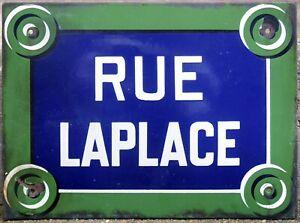 Old French enamel street building sign plaque Laplace centre Paris 5e Sorbonne