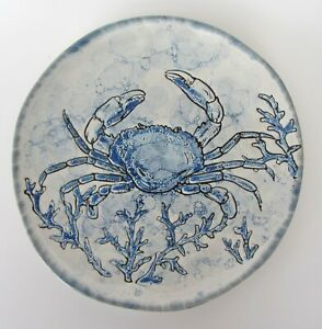 "Spectrum Designs Chesapeake Bay Blue Crab DINNER Plates 11 1/8"" SET 7 NEW"