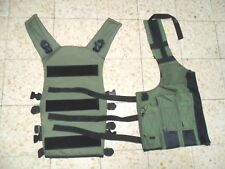 Israeli Army Idf 2 Separate Parts of Tactical Vest Webbing Harness Pouches Zahal